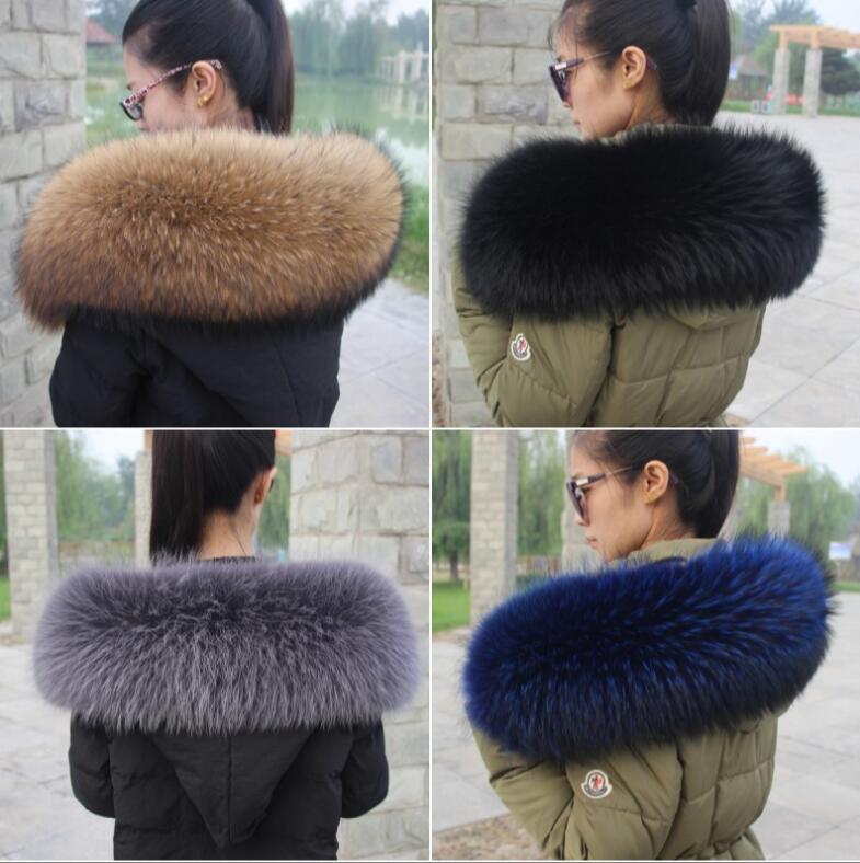 Autumn and winter women's big genuine raccoon fur scarf thermal warm bigger genuine fur collar hooded scarf collar TB029