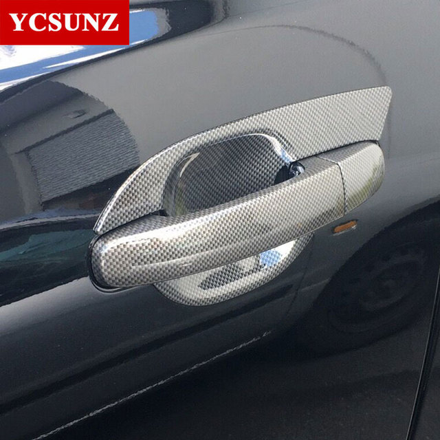 2016 2018 carbon fiber color door handle inserts for ford ranger T7 ...