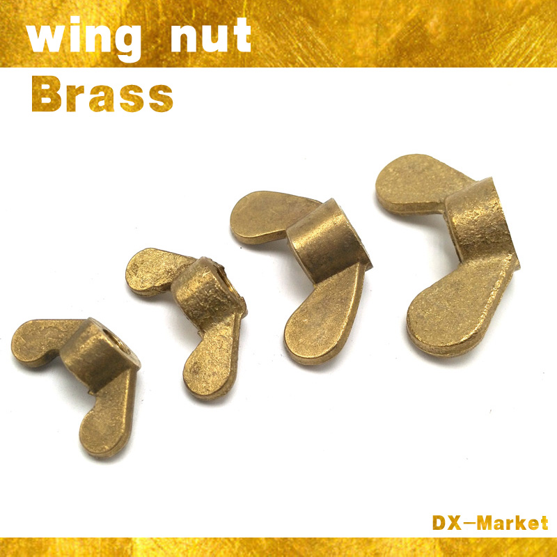 m4 , 30pcs , Metric Thread wing nuts , DIN315 brass Lock Wing Nuts, thumb nuts