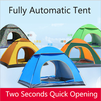 2 3 Person Outdoor beach/Hiking Automatic Quick Opening Tent 200*150*115cm Round Folding Simple Double Door Anti UV Travel Tent