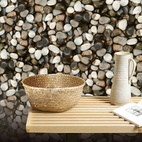 3D Stone Style Wallpaper Waterproof PVC Vinyl Tile Wall Paper For Kitchen Bathroom Background Wall No Self adhesive 10MX53CM