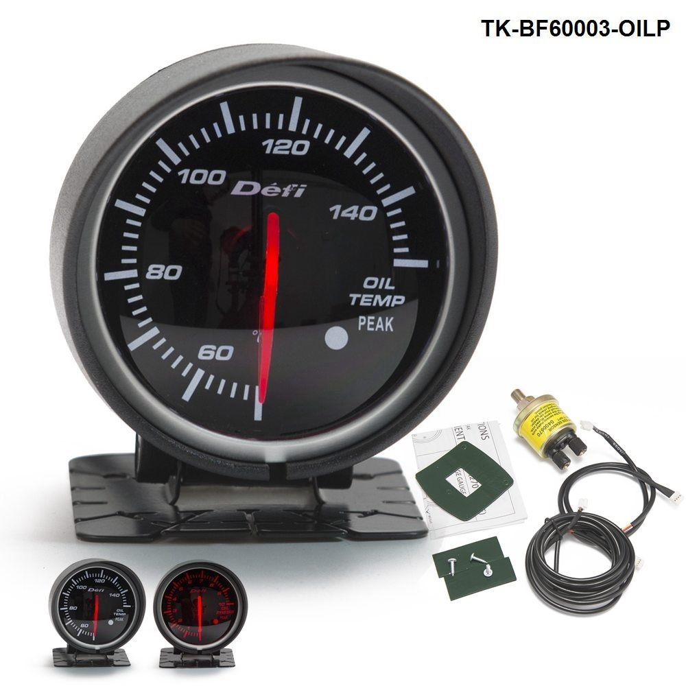 2 52mm 7 Color Led Car Oil Press Gauge Auto Pressure Meter With Ford 8n No 60mm Df Bf Redwhite Light Fit Motor For