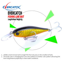 Купить с кэшбэком EVERCATCH 60mm/5g Minnow Lure Sinking Tungsten Ball VMC Hook Swimbait Iscas Artificial Pesca Leurre Fishing Wobbler Plastic Hard