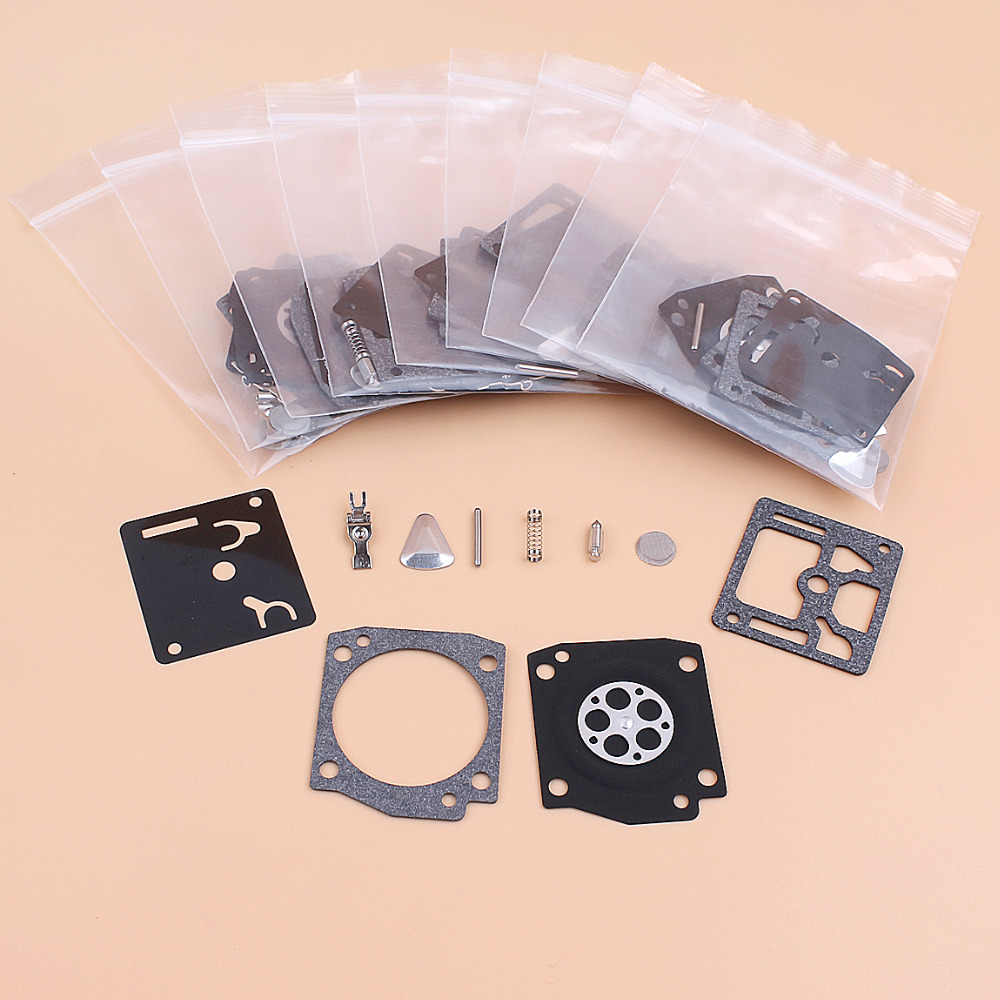 10Pcs/lot Carburetor Carb Repair Kit Fit HUSQVARNA 365 362 371 372 372XP Jonsered 2065 2165 Chainsaw Diaphragm Zama RB-31 RB31