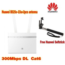 (+Huawei selfstick)Huawei B525 4G LTE CPE Industrial Wifi Router with SIM  Card Slot B525s-23A