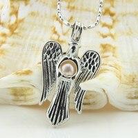 Оптовая продажа Посеребренная Орел медальон кулон Цепочки и ожерелья подарок для девочек клетка кулон Бесплатная доставка