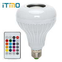 ITimo Smart LED Bulb RGB RGBW Dimmable Bluetooth Speaker Bulb Ball E27 Music Playing Light Lamp