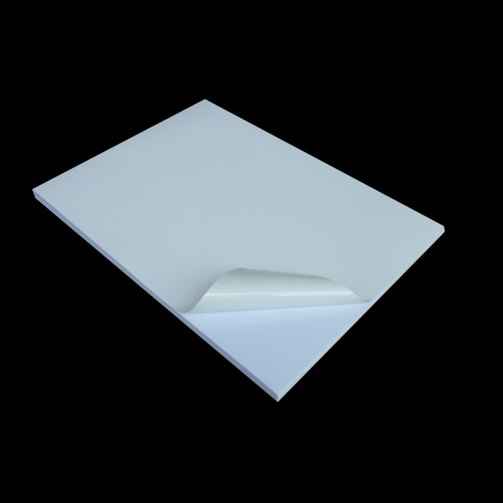 Wholesale 21*29.7cm A4 PVC White Blank Printing Paper Self-adhesive Label Waterproof Oilproof Tear Not Lousy Dumb And Smooth 5pcs lot dhl free shipping 6in1 galvanic ems photon ultrasound body massage skin care ultrasonic beauty slimming fat loss device