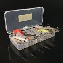 5Pcs/Box 3D Eye Lead Fishing Lures Curly Tail Soft Minnow Fishing Lure Treble Hook Baits Artificial Bait 9.3g 10cm / 14g 8cm