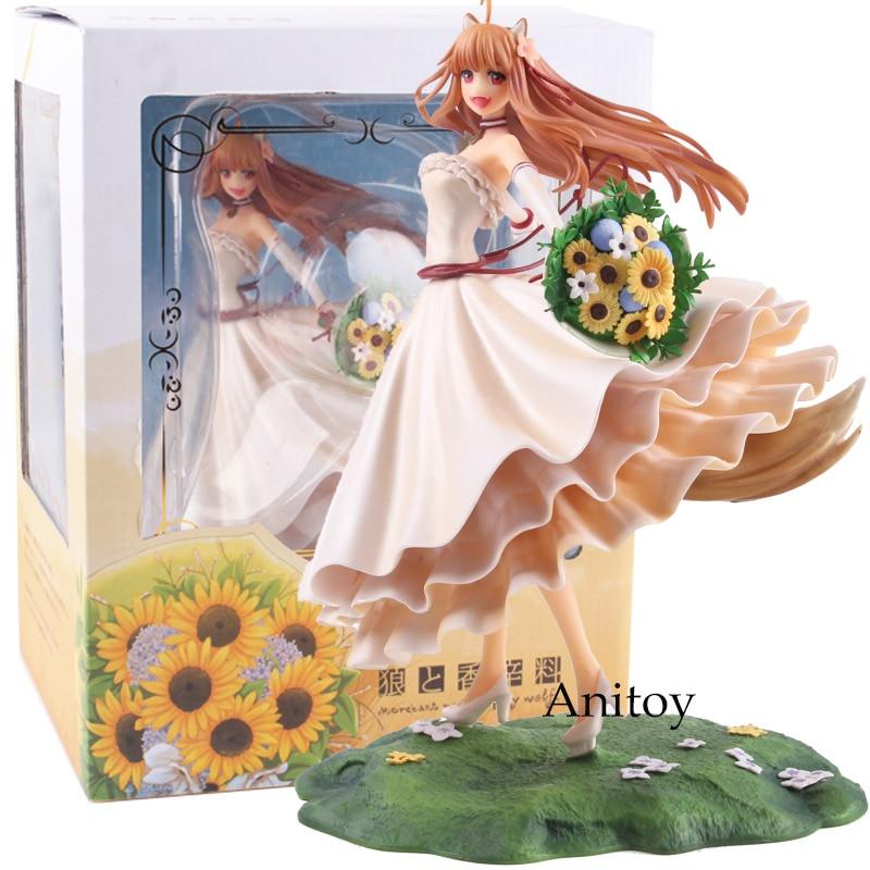 цена на Anime Spice and Wolf Holo Wedding Dress Ver. 1/8 Scale PVC Holo Figure Collectible Model Toy 21cm Anime Figure