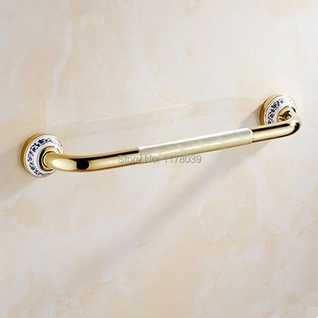 Shower Safety Brass Grab Bars,elderly Person Anti Slip Handrail,Bathroom  Silver And Golden