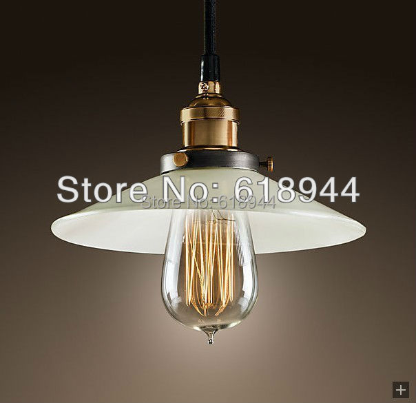 wholesale vintage copper lamp pendant lights edison bulb lighting white iluminacion e27 220v for decor lampara vintage hanglamp