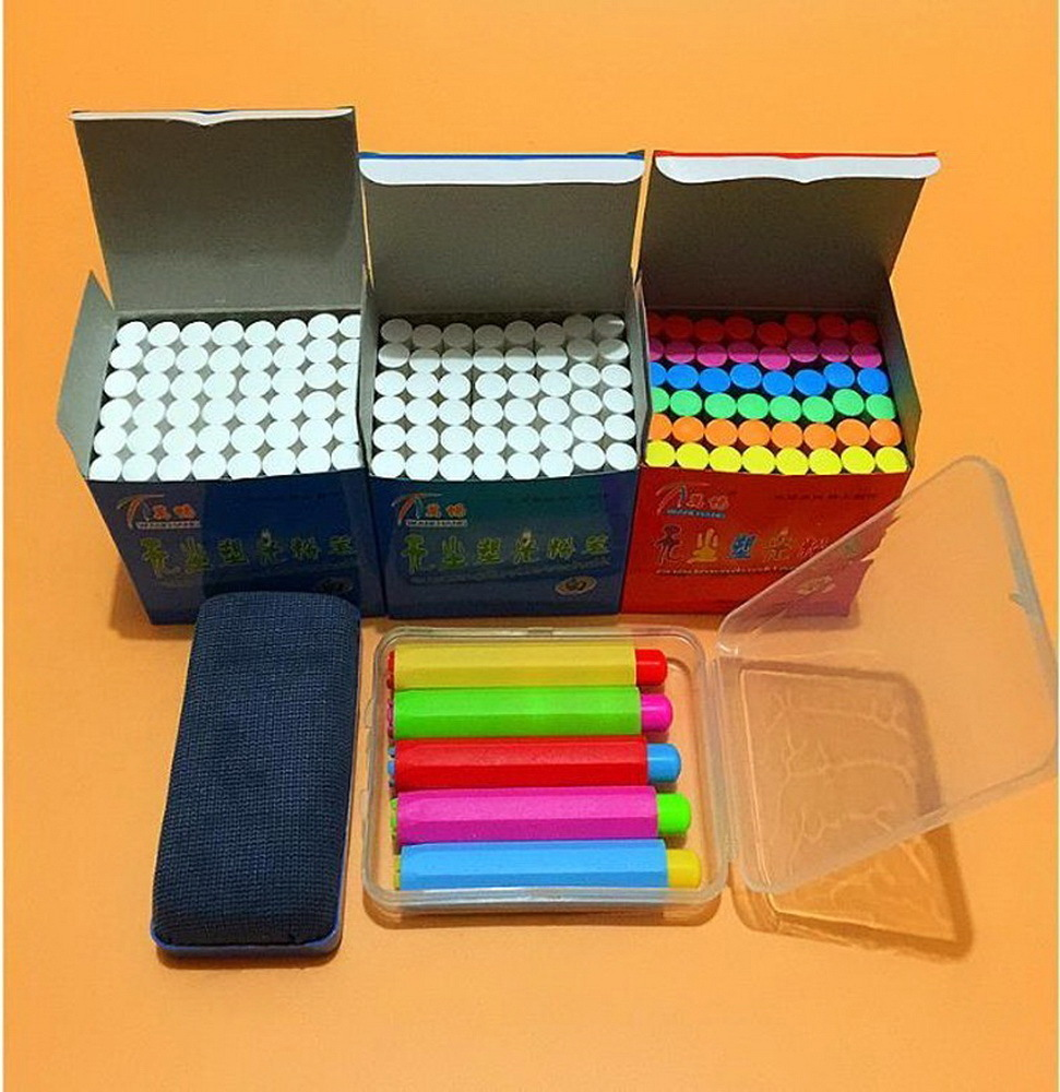 Free shipping/Clean non-toxic environmental health bright chalk/The teacher in class dedicated dustless chalk/151001/2 chalk зонт складной eleganzza eleganzza el116dwxid56 page 3