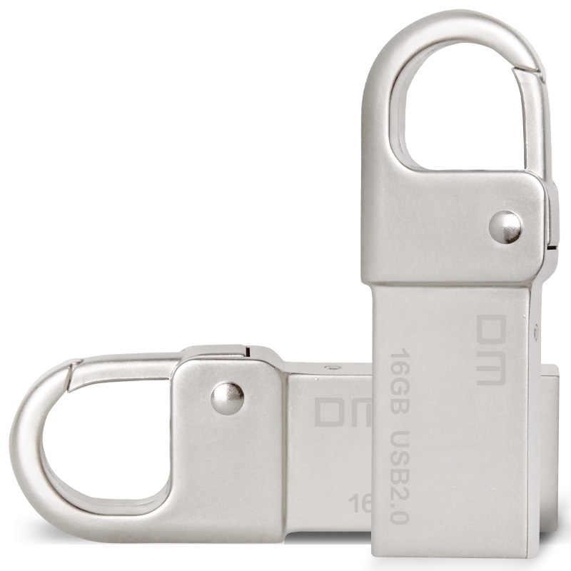 DM PD027 USB флэш-накопитель металлический флеш-накопитель брелок для ключей Водонепроницаемый U флэш-память 16 Гб оперативной памяти, 32 Гб встроенной памяти USB флешки на флэшке, бесплатная доставка