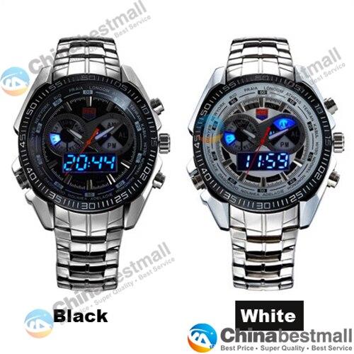 TVG Merk Luxe Rvs Klok Digitale Sport LED Horloges Mannen 30 M Dual - Herenhorloges - Foto 4
