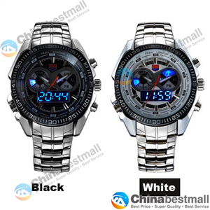 Image 4 - TVG Brand Luxury Stainless Steel Clock Digital Sports LED Watches Men 30M Dual Movements Waterproof Watches Relogio Masculino