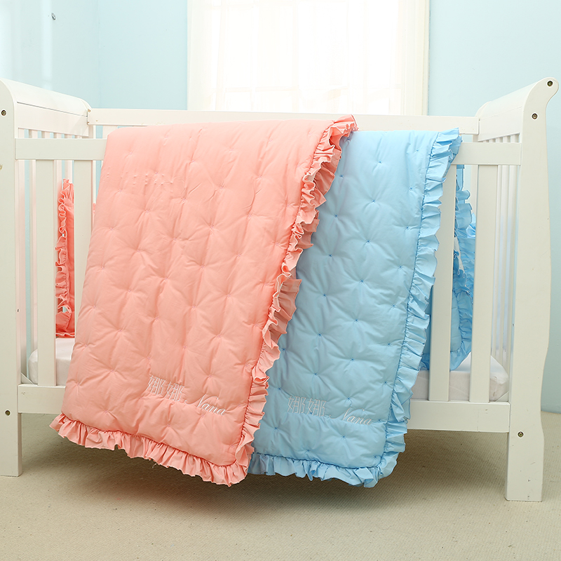 Quilted Baby lace quilt,Children's air conditioning by newborn quilt,Customizable name цены онлайн