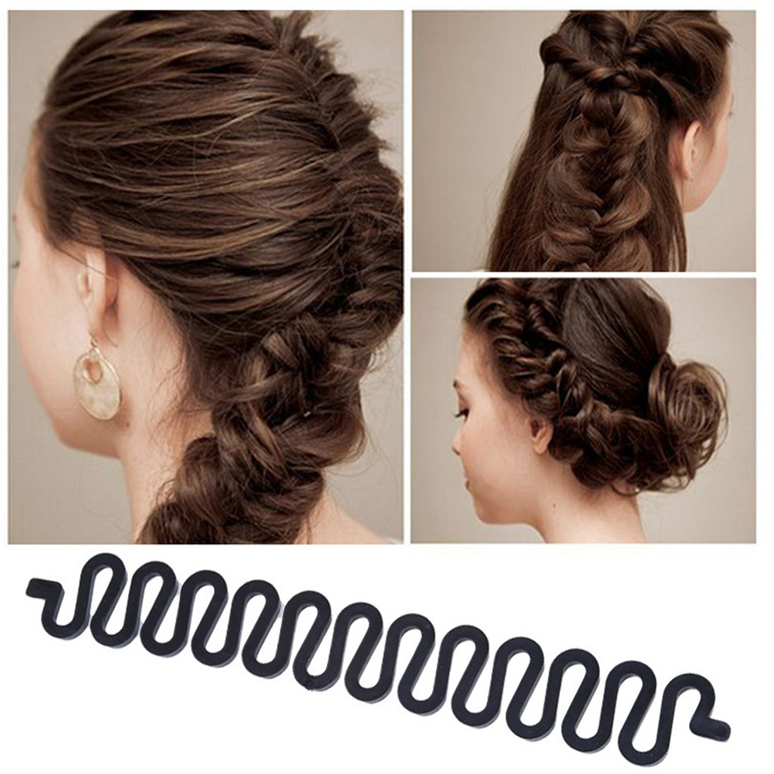 Black Fashion Magic Barber Accessories Braided Artifact Lazy Hair Tools Hairpin Accessories Salon Accessories