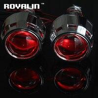 ROYALIN HID Bi-Xenon Projektor-objektiv 2,5 ''Externe Scheinwerfer Objektiv w/Wanten Schwarz Sliver Teufel Augen Rot blau Gelb Grün Weiß