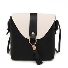 2019 New Fashion Women Crossbody Bags Small Rivet Girls Flap Female Tassel Messenger Candy Color