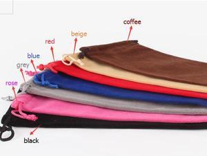 Image 5 - Sac en velours à cordon avec cordon, Rectangle noir/rouge/Rose/bleu/marron sacs demballage pour cadeaux de noël Logo imprimé 50 pièces/lot