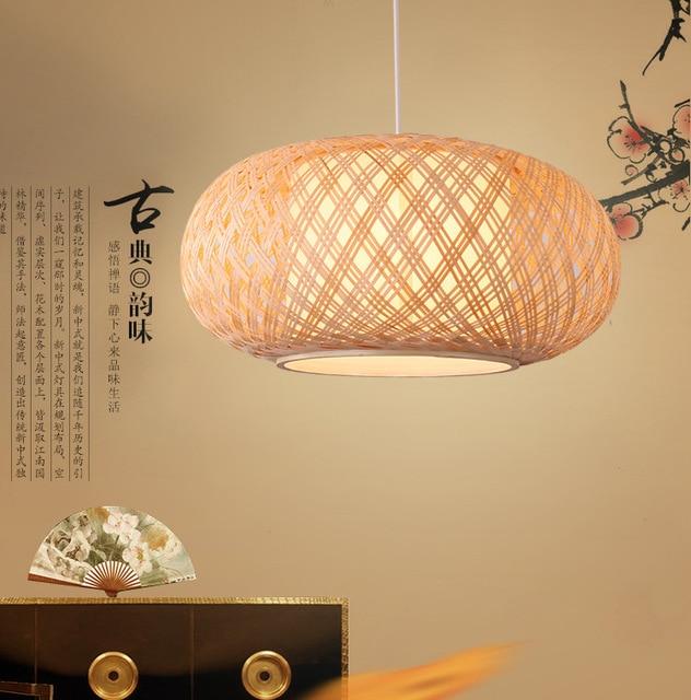Runde Hand Strick Bambus Rattan Pendelleuchte Kabel Leuchte