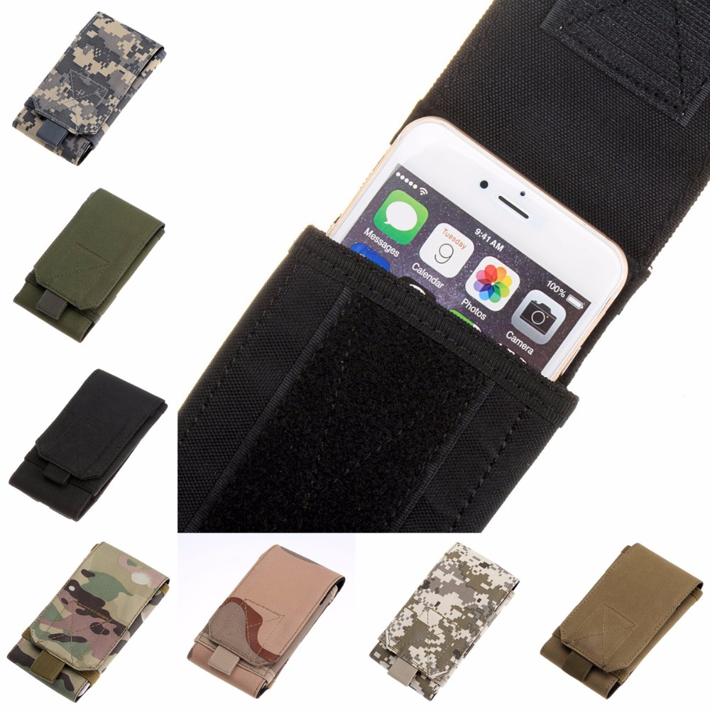 MOLLE Waist Bag Army Tactical Military Mobile Phone Bag Belt Pouch Case Cover For SAMSUNG Galaxy S9 Plus S9Plus S6 S7 S8 Active