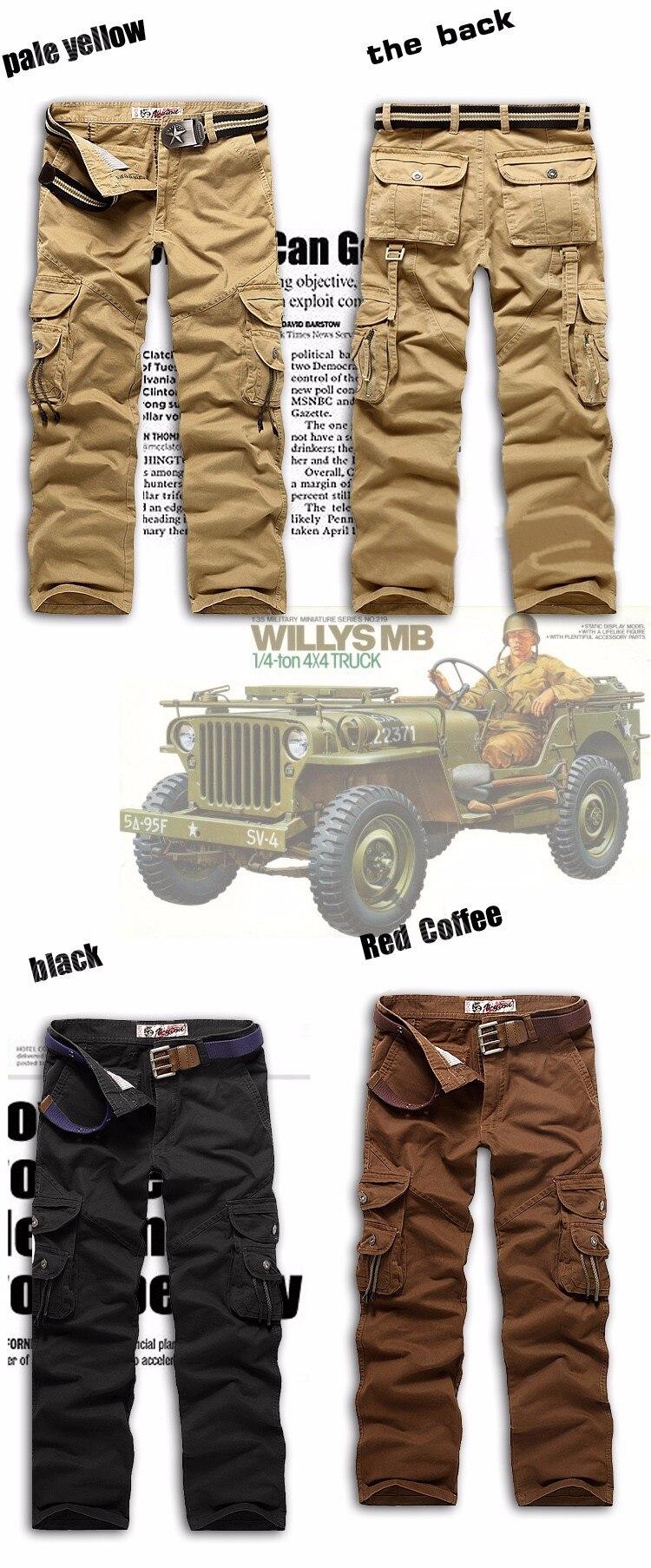 Новинка, продвижение, мужские брюки-карго камуфляж, Военный стиль, брюки, армейские брюки, хаки, мульти-комбинезоны с карманами, брюки для мужчин, большие размеры