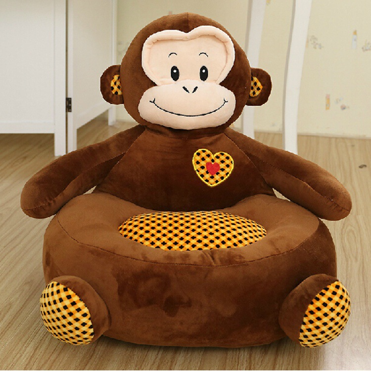 cartoon monkey, dog, bear , frog design plush toy sofa tatami plush toy sofa floor seat cushion for children, birthday gift t533 about 54x45cm cartoon monkey plush toy zipper closure tatami soft sofa floor seat cushion brown colour birthday gift t8954