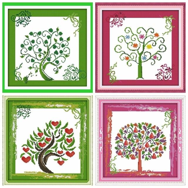 El árbol De La Vida Cruz Puntada Kit De Dibujos Animados Planta