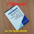 2700 mAh Bateria Do Telefone Móvel para THL W200 w200s W200C Telefone