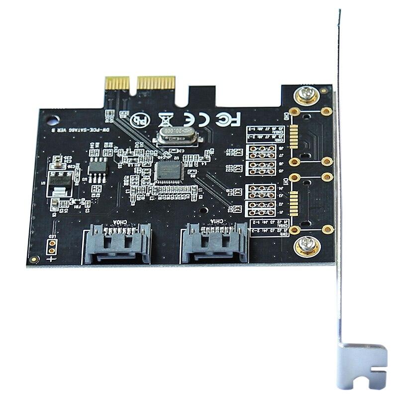 6 Gbps PCI-expressie PCIE pci-e naar 2 Port SATA 3.0-poorten - Computer componenten - Foto 4