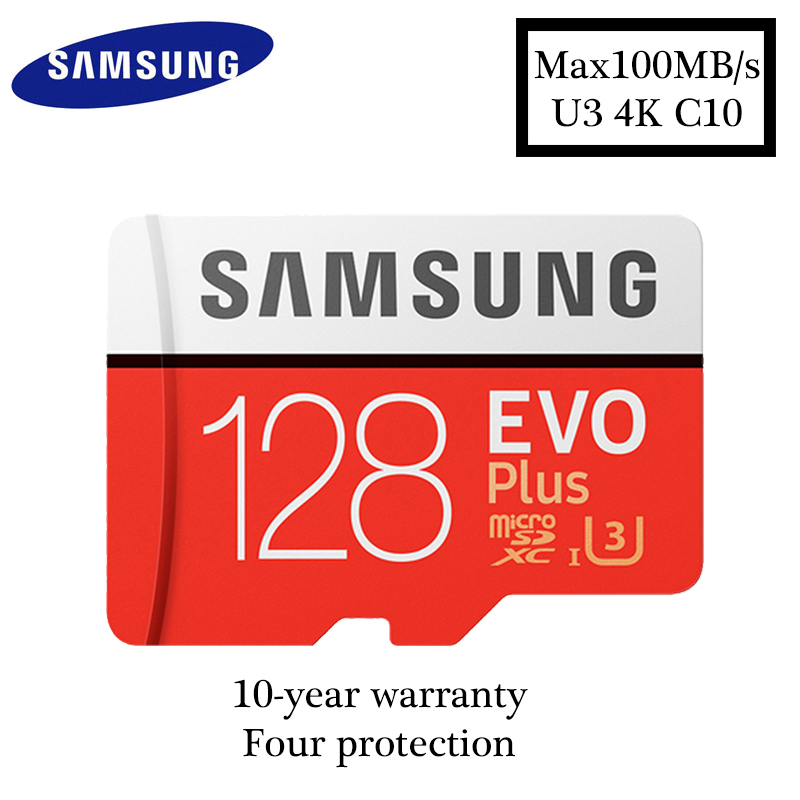 Samsung micro sd card 128GB EVO PLUS max100MB / s Class10 SDXC U3 4K Memory Card TF Flash Card for Smartphone Tablet etc ...