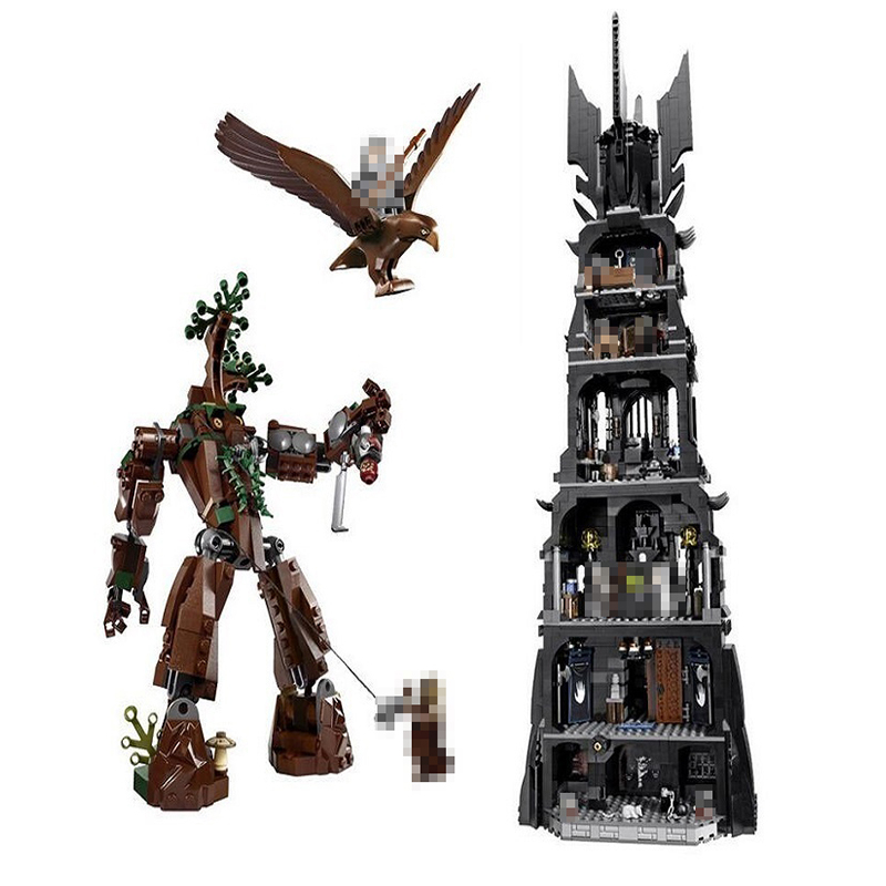 2430Pcs Lord of the Rings Movie Tower of Orthanc Ent stands Battle 16010 Model Building Blocks Toys Bricks Compatible Legoed