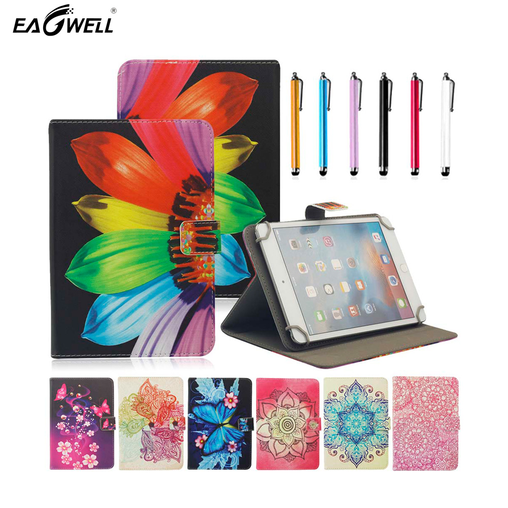 Tablet Case Universal 10 inch For 9.7 inch 10 inch 10.1 inch Tablet PU Leather Cover Flip Stand Magnetic Print Skin Shell Funda universal 9 7 10 inch tablet pc wallet pu leather case for irbis tw21 10 1 inch table stand cover center flim pen kf553c