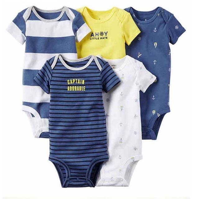7f5dffcf6ed1 new born baby clothes newborn boy girl stripe rompers set 2019 ...