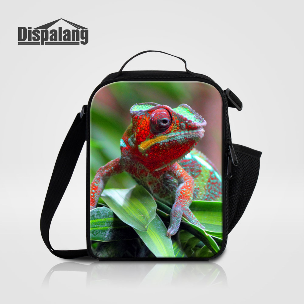Dispalang Lunch Bag Lizard Print Food Picnic Bags for Children Cooler Bag Thermo Bag Thermal Portable Insulated Lunchbag