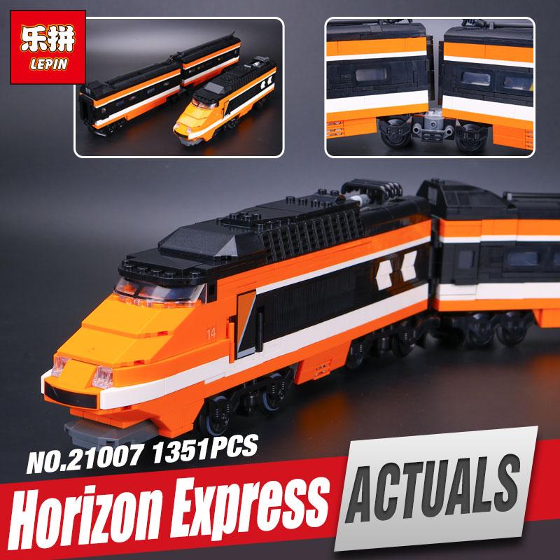Lepin 21007 1351pcs Technic Series The Horizon Express Model  10233 Horizon Train Educational Building Blocks Bricks Toys rexartis rexartis 10233