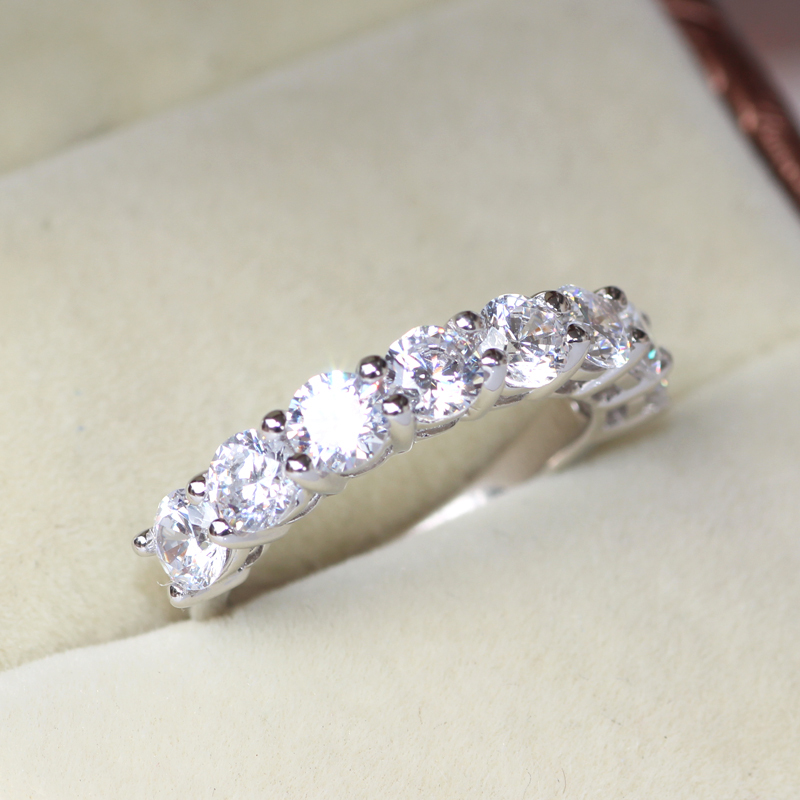 carat band in setting ct anniversary art prong low eternity diamond bands vip profile braided white jewelry gold