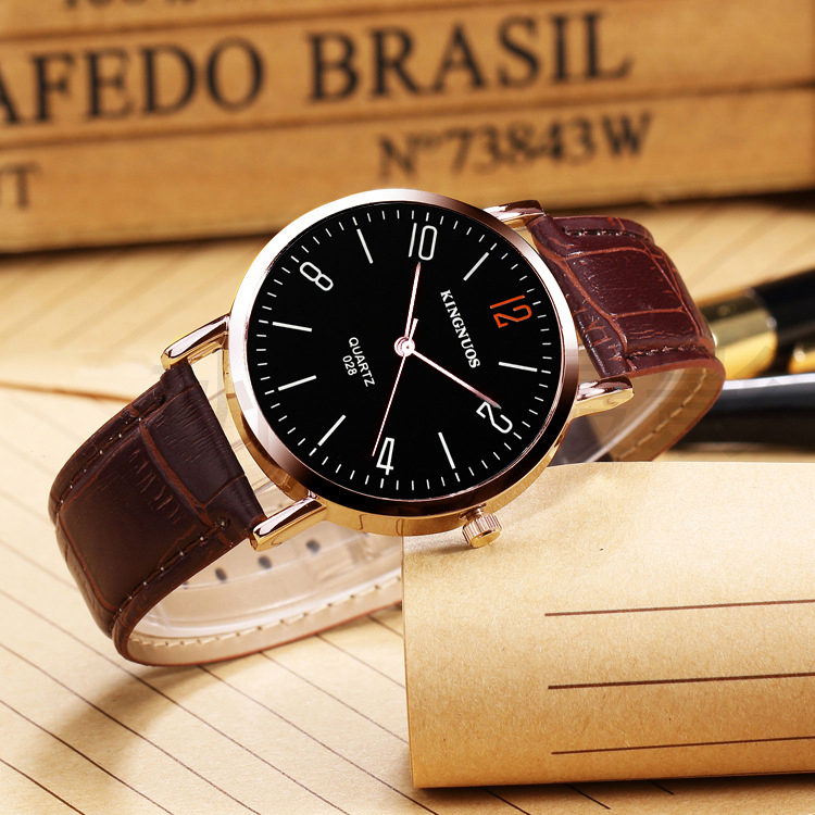 c5ef7a9d9ba0 KINGNUOS reloj de pulsera de negocios para hombre relojes de oro rosa marca  de lujo famoso reloj de pulsera de cuarzo para hombre reloj Hodinky