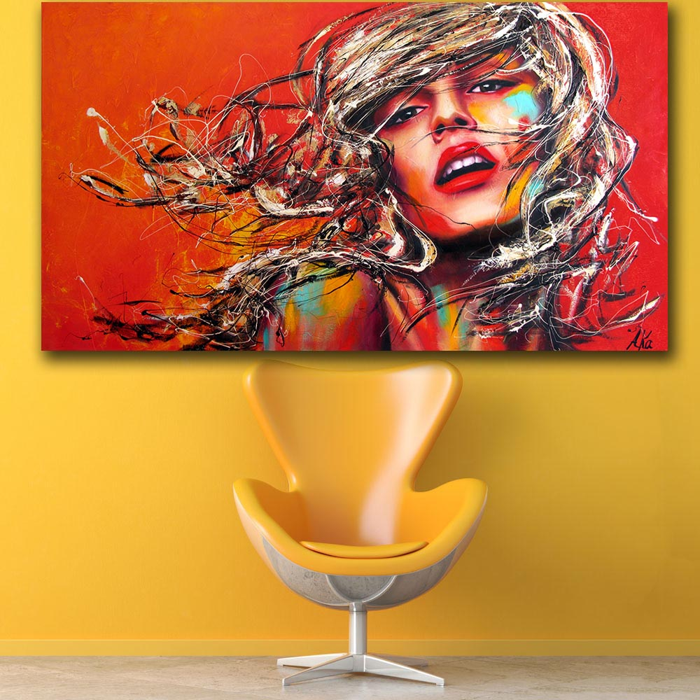 Aliexpress.com : Buy Pop art Fashion Girl wall art Canvas Painting ...