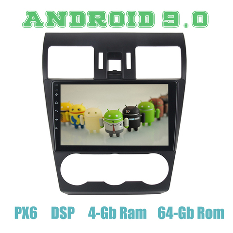 px6 android 9 0 do gps do carro de radio multimidia para subaru forester xv