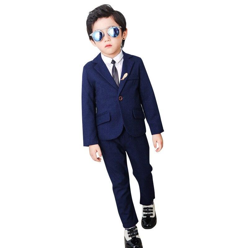 2 Pcs Jungen Anzüge Für Hochzeiten (blazer + Hosen) Kinder Formale Anzüge Kinder Blazer Anzug Koreanische Jacke Für Jungen Geburtstag Anzüge 2-10y