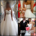 Free Shipping Stuning Off Shoulder Pleat Tulle Crystal Beading Maternity Wedding Dresses