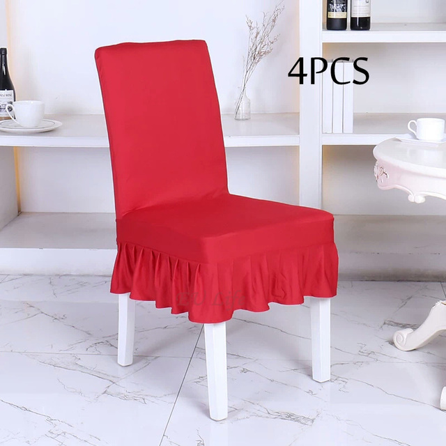 decorative chair covers for sale law office client chairs 4pcs spandex stretch dining cover hot cheap hotel spendex home coffee color housse chaise