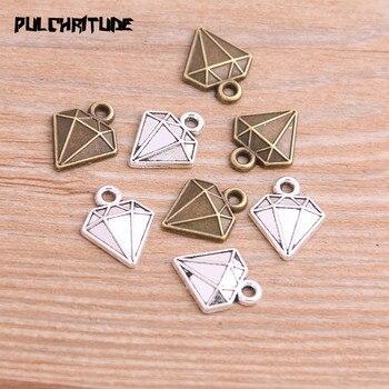 30 sztuk 13*15mm dwa kolor metalu stopu cynku trójkąt Charms dopasowana biżuteria geometryczne wiszące Charms zadatki