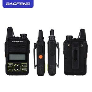 Image 2 - 2PCS Baofeng bf t1 מכשיר קשר מיני ילדים רדיו uhf נייד שתי בדרך רדיו חם CB רדיו USB מטען ייחודי מעורר כפתור