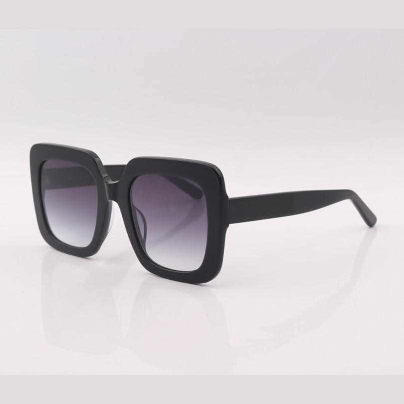 Co1 Gafas Qualität Mujer Quadratischen Rahmen Frauen Top De Sonnenbrille Sol Grau Lens Schwarz Gradient OdzqfwS