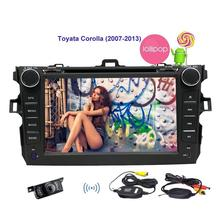 free Camera Car stereo Android 5.1.1 in Dash Autoradio Bluetooth Headunit GPS Navigation Map DVD Player Double 2din Touch Screen