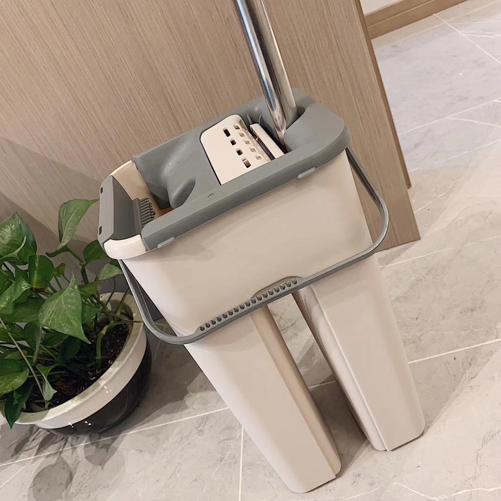 Nettoyage magique vadrouilles main libre essorage nettoyage microfibre vadrouille avec seau plat presser Spray vadrouille maison cuisine sol fenêtres propre